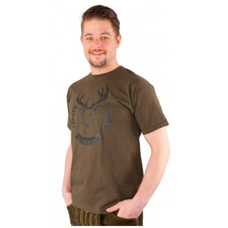 T-Shirt Hirsch braun