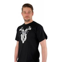 T-Shirt Hirsch Herren schwarz