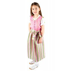 Kinderdirndl pink/grün inkl. Bluse 3 Teiliges Set