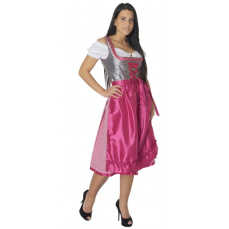 Dirndl Holly Silber/Pink
