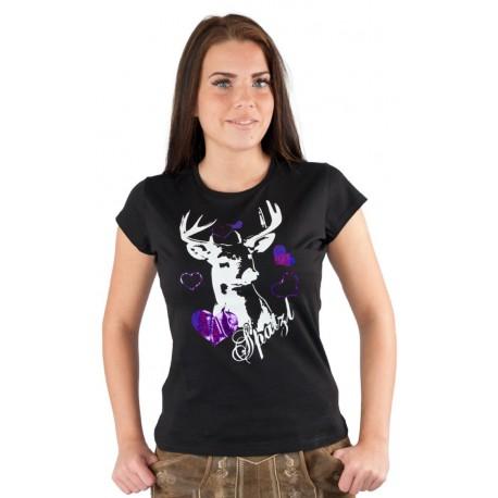 T-Shirt Spatzl schwarz