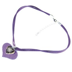 Trachten Halskette Herzform in versch. Farben