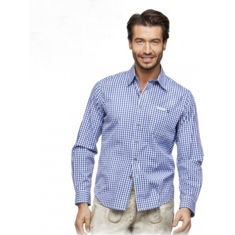 Trachtenhemd Campos Blau