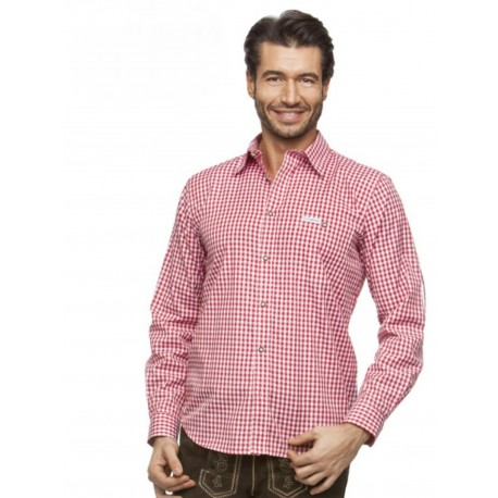 Trachtenhemd Campos Rot