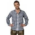 Trachtenhemd Dean Navy/Blau