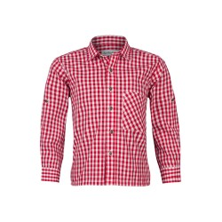 Kinderhemd Standard Karo ( rot )