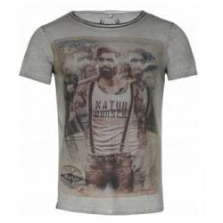 L104 Martin t-shirt seagrass melange