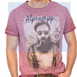 T-shirt L10.1 Alpensepp bordeaux