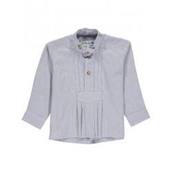 Trachtenhemd (52813) Blau/Weiß Isar-Trachten